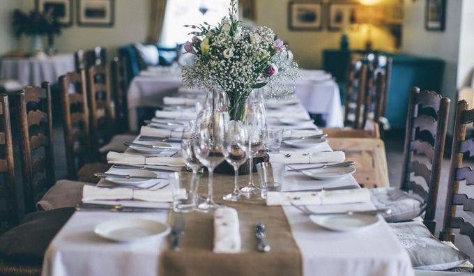 Beautiful Wedding Tables at The Bell of Skenfrith